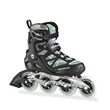 Rollerblade 2015 MACROBLADE 90 High Performance Fitness/Training Skate with 90mm Wheels, Black/Green, US Women's 7 by Rollerblade