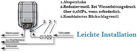Eldom Warmwasserspeicher//Boiler 10L /Übertisch druckfest 72325NMP Wei/ß