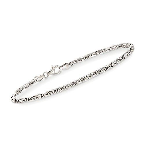 Ross-Simons 2.4mm Sterling Silver Byzantine Bracelet