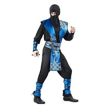 Ninja Japón Samurai Negro Azul adultos: Amazon.es: Juguetes ...
