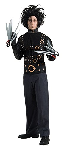 Rubies Mens Scary Edward Scissorhands Grand Heritage Fancy Costume, Standard (up to 44) -