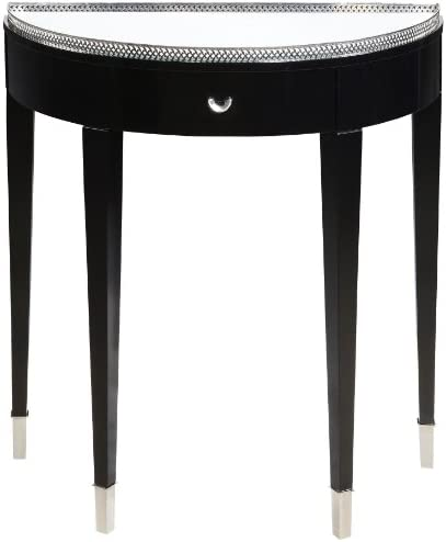 STERLING Tie Transitional Plantation Grown Hardwood Hall Table, 30 to 3 4 , Black