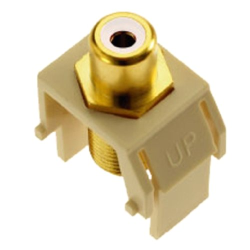 Legrand - On-Q WP3461LA RCA to FConnector, Light Almond Almond F Connectors