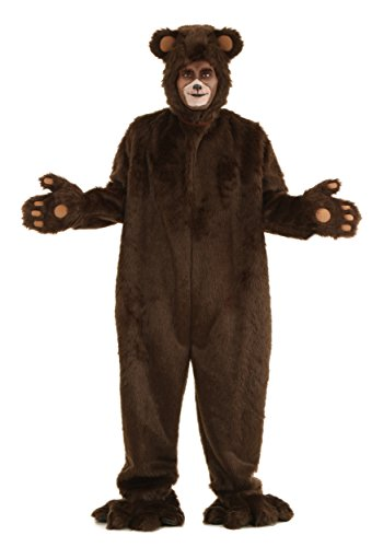 Adult Deluxe Furry Brown Bear Costume X-Large
