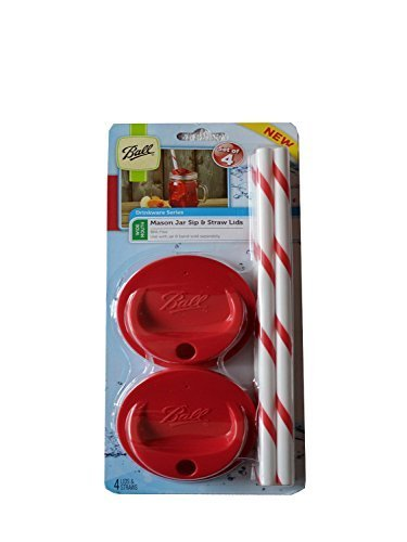 Ball Wide Mouth Sip & Straw Lids - Pick Your Color (1, Red)