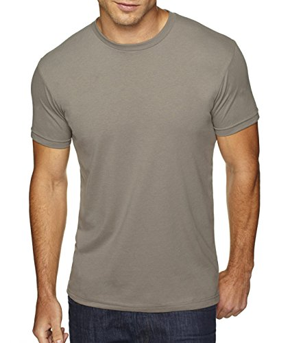 Next Level Men's Premium Fitted Sueded Crew, Warm Gray, - Outlet Sale Premium