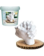 Hand Casting Kit By Craft It Up! - DIY Plaster Statue Molding Kit - Hand Holding Craft for Couples Activity Set - Unique Baby Shower, Anniversary, Wedding Gift - Baby Hand And Feet Mold Keepsake