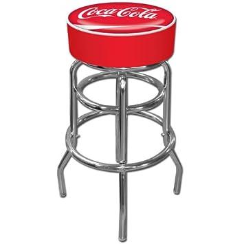 Coca Cola Padded Swivel Bar Stool
