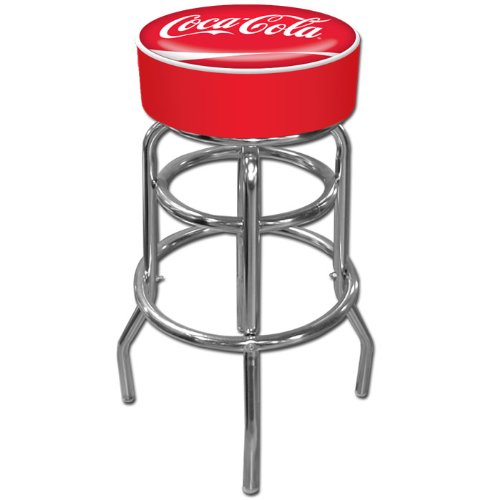 Coca-Cola Padded Swivel Bar Stool Marin Futon