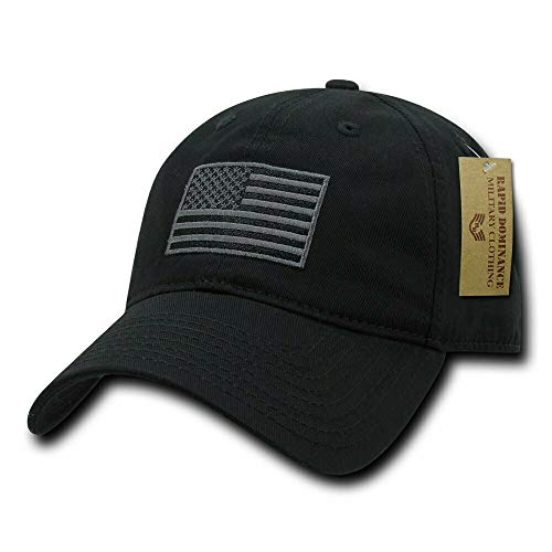 - RapDom Polo Style American Pride Flag Baseball Caps Tonal Flag Black