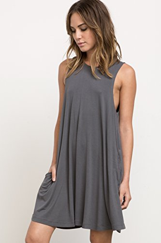 Two Punches (RVCA Junior's Sucker Punch 2 Swing Dress, Grey Skull, M)