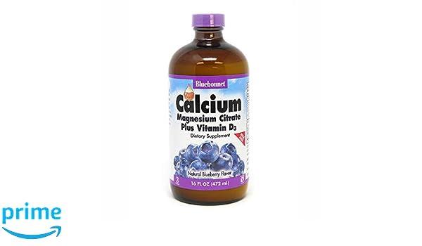 BlueBonnet Liquid Calcium Magnesium Citrate, Blueberry, 16 Fluid Ounce: Amazon.es: Salud y cuidado personal
