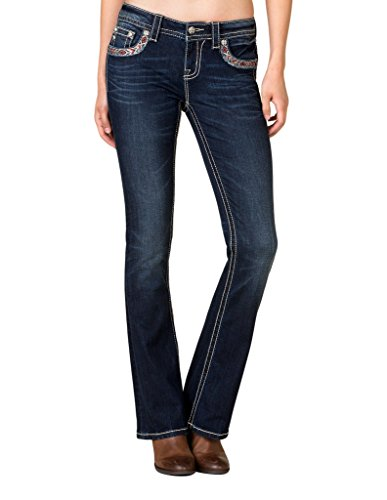 Embroidered Bootcut Womens Jeans - 7