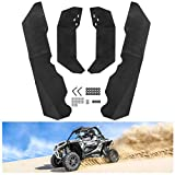 KIWI MASTER Fender Flares Extensions Compatible for Polaris RZR XP/4 1000 2014-2018 Extended Mud Flaps Guards