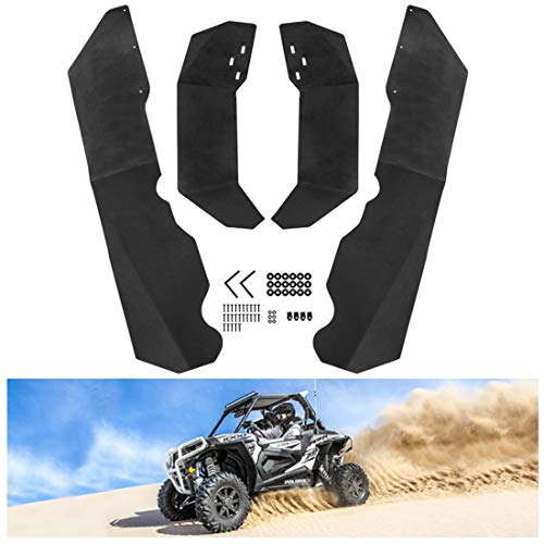 KIWI MASTER Fender Flares Extensions Compatible for Polaris RZR XP/4 1000 2014-2019 Extended Mud Flaps Guards