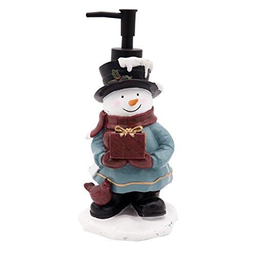 Bathpro Bathroom Accessories,Shower Lotion/Soap Dispenser,Chritsmas Bath Set,Bath Collection (Snowman,Coloful) -