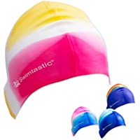 Swimtastic® Tie Dye Silicone Swim Cap - 4 Fun Designs For...