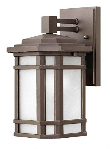 - Hinkley 1270OZ-WH-LED Cherry Creek Outdoor Wall Sconce, 1-Light LED 15 Watts, Oil Rubbed Bronze