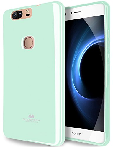GOOSPERY Marlang Marlang Huawei Honor V8 Case - Mint Green, Free Screen Protector [Slim Fit] TPU Case [Flexible] Pearl Jelly [Protection] Bumper Cover for Huawei HonorV8, HWHNV8-JEL/SP-MNT