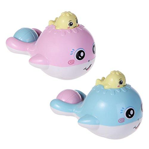 JAGENIE新しいかわいいクジラのイルカシャワースプレーバスおもちゃの騒動揺れる赤ちゃんのおもちゃクリスマス新年のギフト、1 PC、ランダム配信