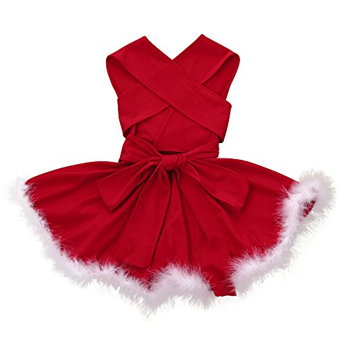 (Dream Room Christmas Costume Toddler Newborn Kids Baby Girls Bandge Sleeveless Pageant Party Xmas Dress)