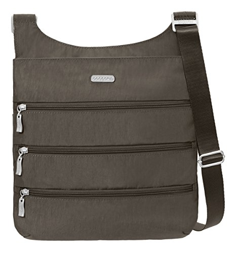 Baggallini Big Zipper Crossbody Travel Bag, Portobello, One Size