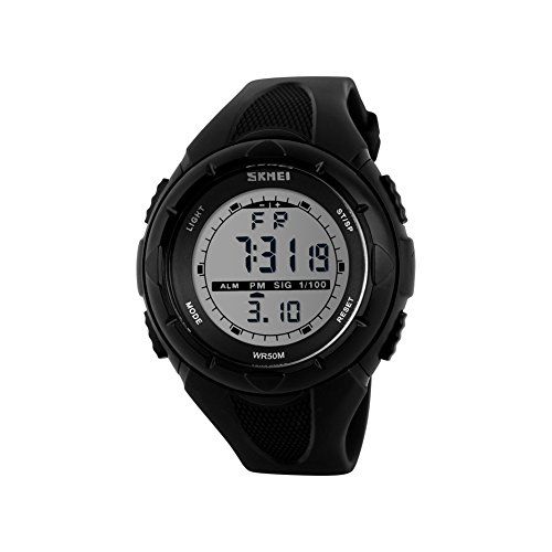 Naivo Women's Swiss Automatic Stainless Steel and Rubber Casual Watch, Color:Black (Model: NAIVO-WATCH-1172)