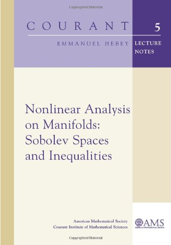 Nonlinear Analysis on Manifolds: Sobolev Spaces and Inequalities (Courant Lecture Notes)
