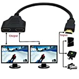 Yi-Ya HDMI Cable 1080P HDMI Spliter Cable Port Male to 2 Female 1 in 2 Out Splitter Cable adaptater in HDMI HD, LED, LCD, TV 30CM