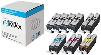 SuppliesMAX Compatible Replacement for Canon PIXMA iP-3600//4700//MP-560//640//860//990 Inkjet Combo Pack PGI-520/_4PK//CLI-521MP/_2PK 6-BK//2-C//M//Y
