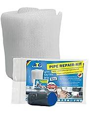 Reparatietape buisisolatie sterke reparatie - reparatieset | hoge druk en temperatuurbestendigheid | zelfklevend