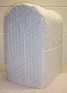 Quilted Kitchenaid Lift Bowl Stand Mixer Cover (White)