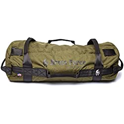 BRUTE FORCE Sandbags - Strongman - Army Green - Home Gym Set Heavy Duty Tactical Sandbag NO Sand Leakage Accommodating Multiple Fitness Levels Adjustable sandbag