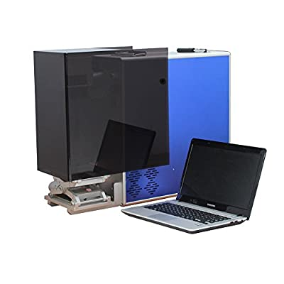 20W Portable Desktop Fiber Laser Marking Engraving etching Machine Maker & Rotary Metal & Non-metal