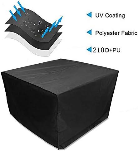 ALGWXQ ガーデン家具210D防水オックスフォード布ガーデンテーブルカバーソファプロテクターアンチフェージング、黒、29サイズ用カバー (Color : ブラック, Size : 180×120×70cm)