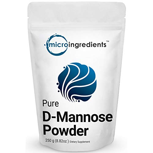 Pure D-Mannose Powder, 8.8 Ounce (250 grams), Powerful Urinary Tract Cleanse and Bladder Health Support, Non-Irradiated, Non-Contaminated, Non-GMO and Vegan Friendly