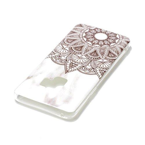 inShang funda para Samsung Galaxy S9 funda del teléfono móvil, anti deslizamiento, ultra delgado y ligero, Estuche, Cubierta, carcasa suave hecho en el material de la TPU, cómodo Case Cover for Galaxy Datura flowers