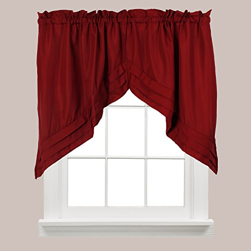 Treatments Window Swags (Holden Window Treatment Swag 57-Inch by 30-Inch, Garnet, Set of 2)
