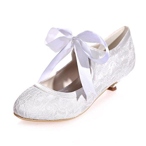05 Shoes white Disponibles 9001 Party De en De pour Court Plus Couleurs Femmes Soie Dentelle Night Mariage Chaussures Rx7nqvw
