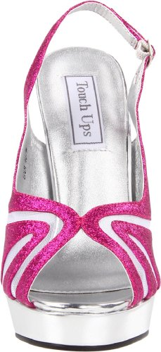 Platform Virginia Women's Fuschia Glitter Ups Touch Rw480