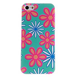 Petal Pattern PC Hard Case with Transparent Frame for iPhone 5/5S