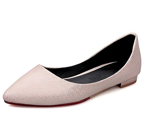 Easemax Womens Trendy Rhinestones Glitter Pointed Toe Low Top Slip On Flats Shoes Pink GMDJzX0