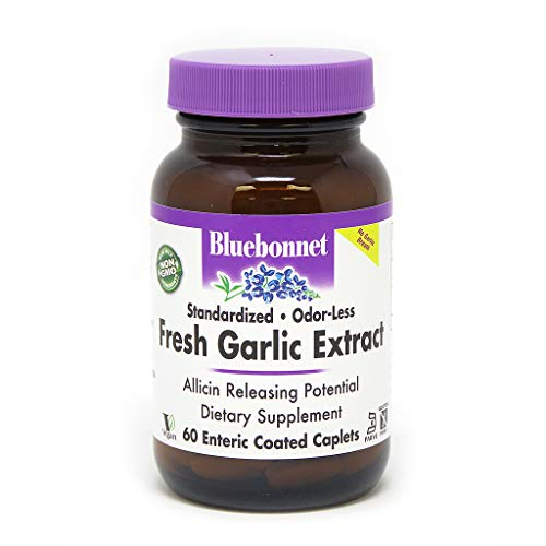 (BlueBonnet Standardized Fresh Garlic Extract Enteric Coated Supplement, 60 Count)