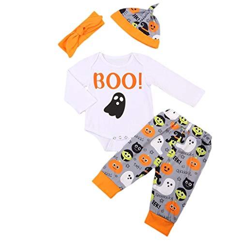 4PCS Halloween Kids Baby Adorable Boo!