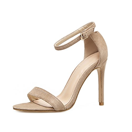 zapatos de con con apricot femenino versátiles terraza verano y sandalias y ultra ZHZNVX ranurado La y delgado fijaciones sexy qgEF8