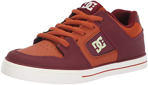 DC Pure Elastic Skate Shoe Red 6 M US Big Kid ()