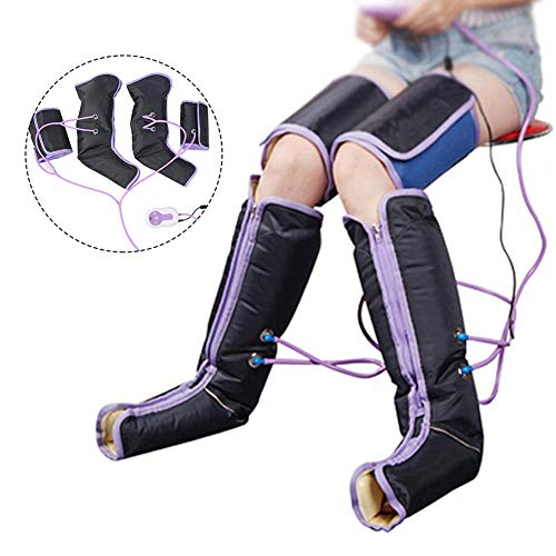 Air Compression Leg Massage Electric Circulation Leg Wraps Handheld Massager for Foot Ankles Calf Therapy(US-Plug)