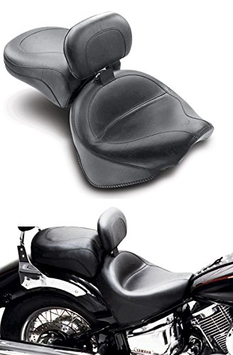 (Mustang 2-piece Wide Vintage Touring Seat with Driver Backrest 79242)
