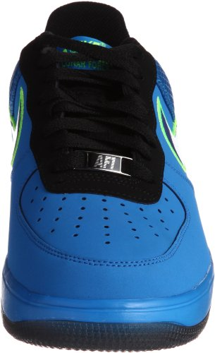 Nike Lunar Air Force 1 Skinn Menns Basketball Sko 580383-300 Bilde Blå / Domstol Lilla / Svart