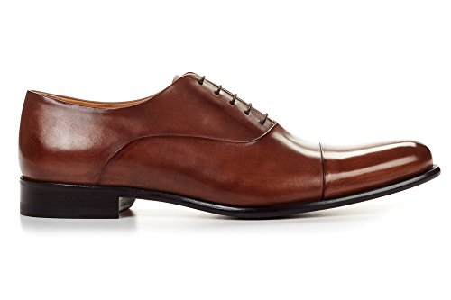 Paul Evans Cagney Cap-toe Oxford - Marrone Marrone